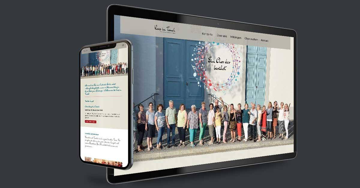 Website für den Chor KeepInTouch – Freienstein, Schweiz. Die Präsentation wird mit Weblication® Core Business als CMS eigenständig gepflegt. Weiterhin wurde eine eigene Cloud (Weblication® Cloud) zum Austausch von Dokumenten inkludiert.