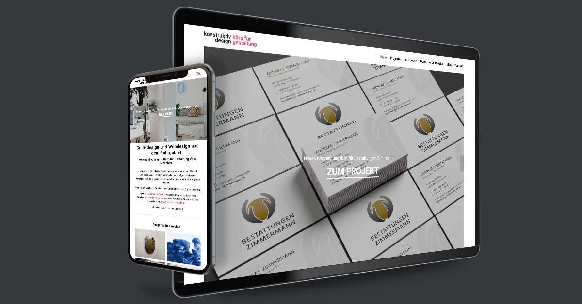 Portfolio Michael Hömke: Website für Konstruktivdesign Vera Menchen – Mülheim an der Ruhr. Die Präsentation wird mit WordPress als CMS eigenständig gepflegt.
