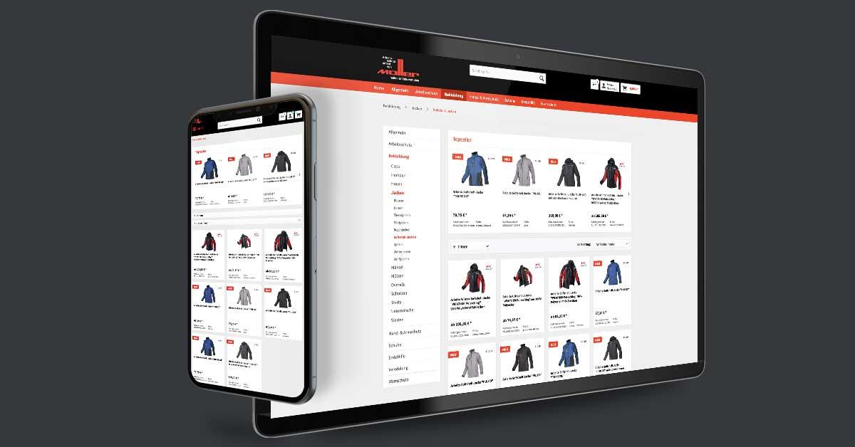 Portfolio Michael Hömke: Onlineshop und Website für Heiko Müller Arbeitsschutz – Altensteig. Der Onlineshop mit Shopware und die Website mit WordPress durch den Kunden gepflegt.
