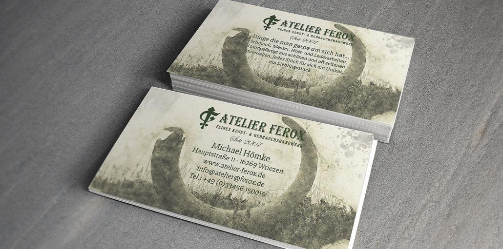 Visitenkarten Atelier Ferox - Wriezen