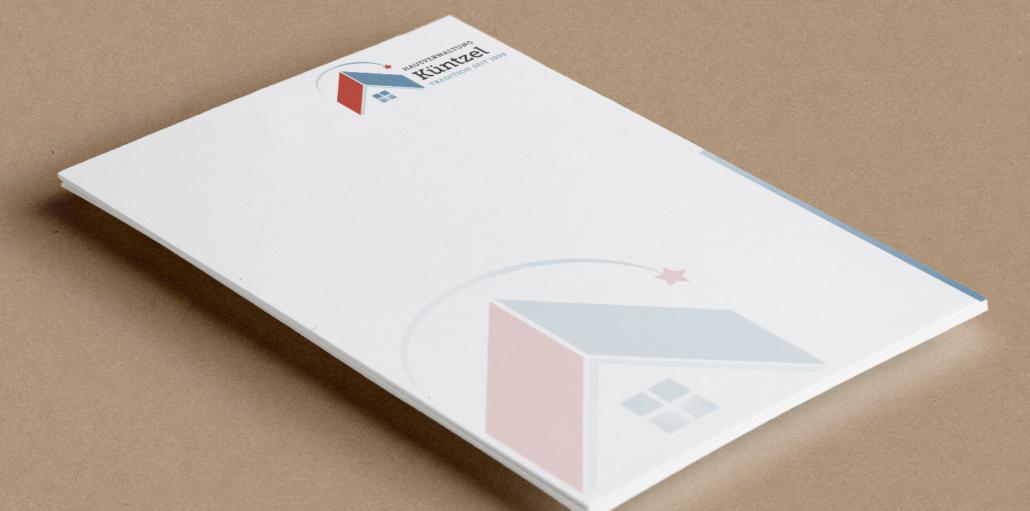 Briefpapier Hausveraltung Küntzel - Berlin