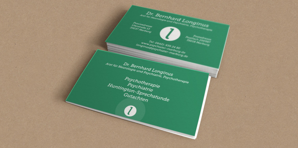 Visitenkarten Dr. Longinus - Marburg