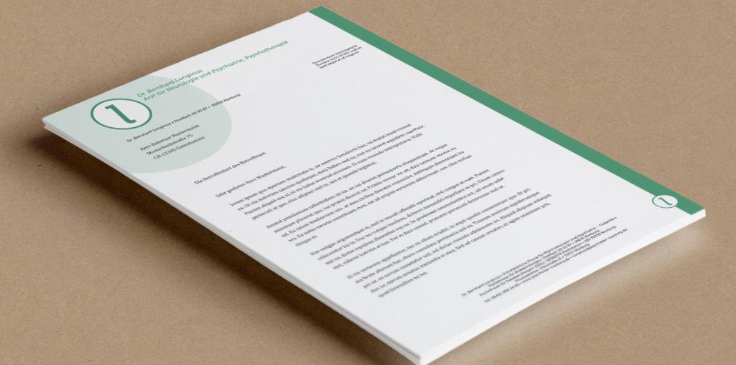 Briefpapier Dr. Longinus - Marburg