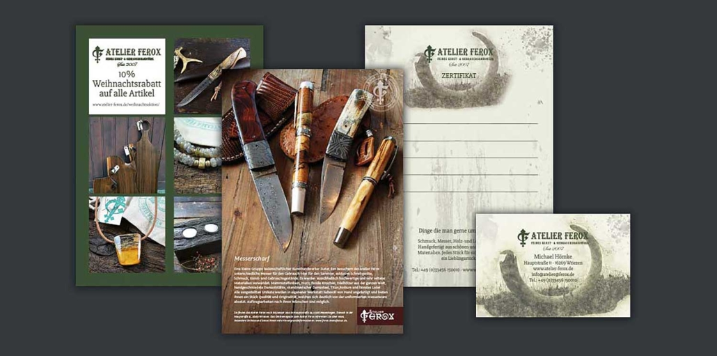 Postkarten und Geschäftsausstattung Atelier Ferox - Wriezen