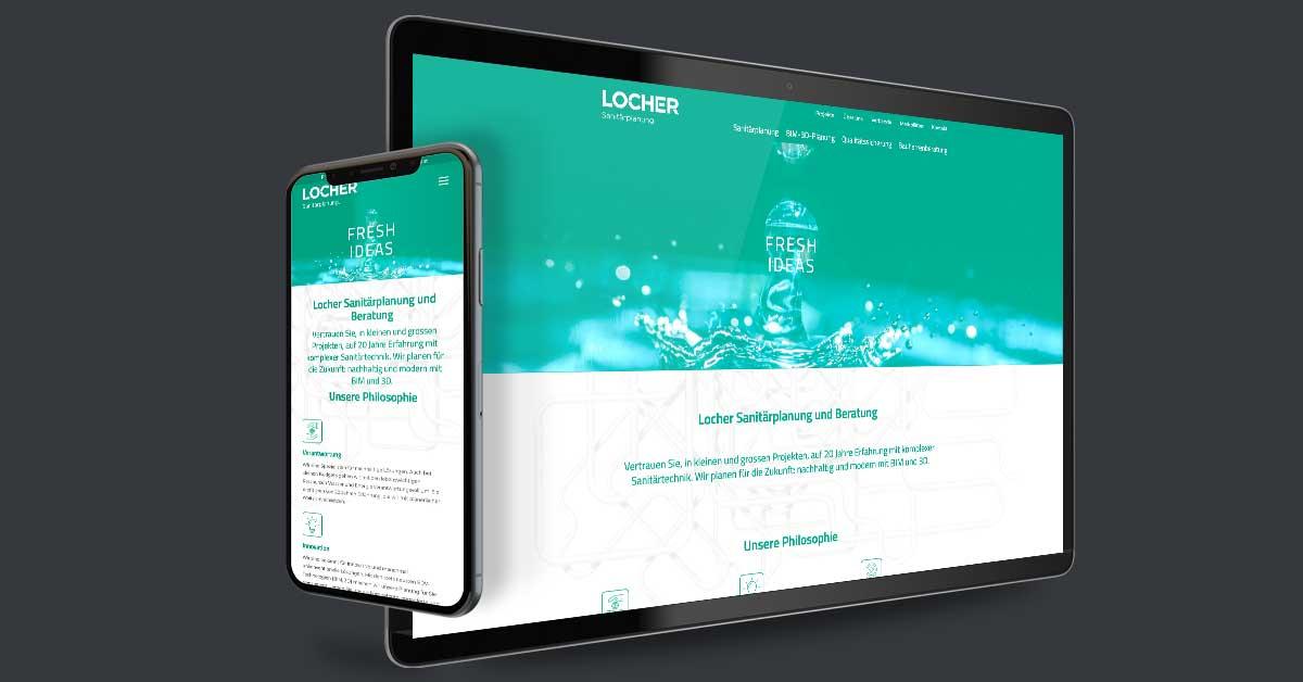 Website für die Locher Sanitärplanung GmbH